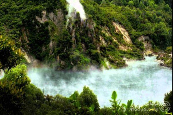دریاچه ای که به ماهی تابه معروف شد